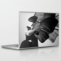 no face Laptop & iPad Skins featuring  face  by mark ashkenazi