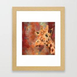 Long Necked Friend Giraffe Art Framed Art Print