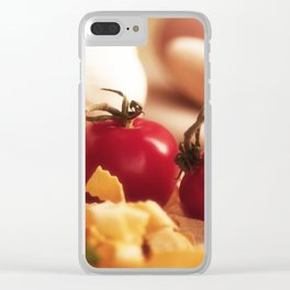 Fresh tomatoes for Italian pasta Clear iPhone Case