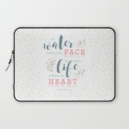 """Life Reflects the Heart"" Bible Verse Print Laptop Sleeve"