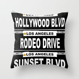 Los Angeles California Throw Pillow