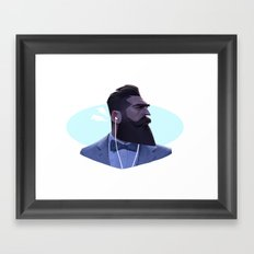 Manly Man Framed Art Print