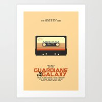 guardians of the galaxy Art Prints featuring Guardians Of The Galaxy by Hitsville