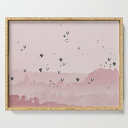 Mountain and balloons Serving Tray