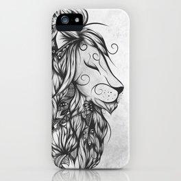 Poetic Lion B&W iPhone Case