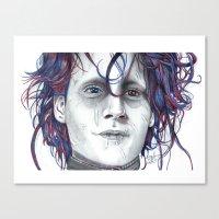 eddie vedder Canvas Prints featuring Eddie by ShayMacMorran