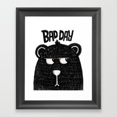 BAD DAY BEAR Framed Art Print
