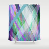 rave Shower Curtains featuring Crystal Rave by GS Designs
