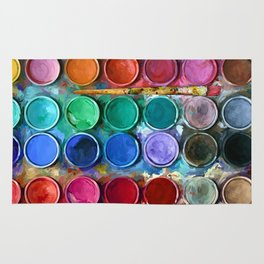 Watercolor Rainbow Abstraction palette iPhone 4 5 6 7, pillow case, mugs and tshirt Rug