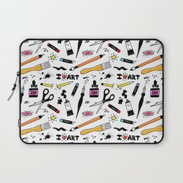 I Love Art Supplies Laptop Sleeve