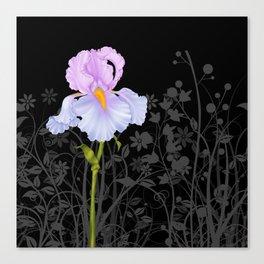 Iris Blue Mauve Canvas Print