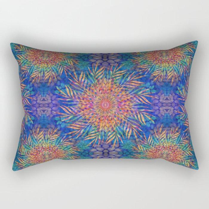 Palm Leaves Mandala Rectangular Pillow