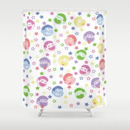 Six Same Faces Shower Curtain