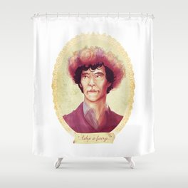 See me in a Crown Shower Curtain