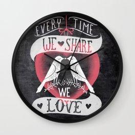 sharing is caring Wall Clock