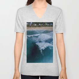 The waves at Banzai Pipeline - Oahu, Hawaii Unisex V-Neck