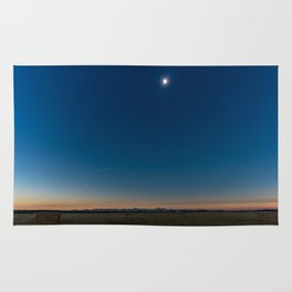 Solar Eclipse Totality Over Grand Tetons Rug
