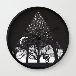 MTB Black Trees Wall Clock