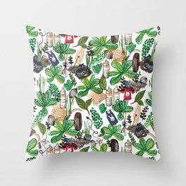 Sri Lanka Life Throw Pillow