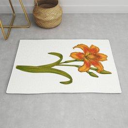 Tawny daylily Rug