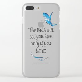 Truth Will Set You Free Clear iPhone Case