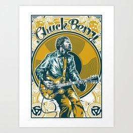 Chuck Berry All Hail Rock N Roll Art Print