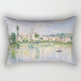 Vetheuil in Summer 1880 by Claude Monet Rectangular Pillow