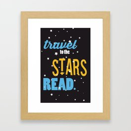 Stars - Just Read Framed Art Print