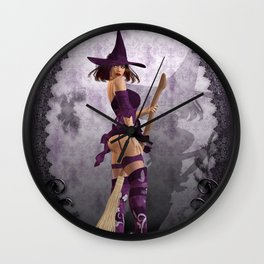Does my bum look big on this broom ;) Wall Clock