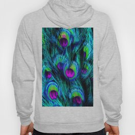 Peacock or Flower Bird Environment Wildlife Nature Feathers Bold Bright Blue Gift Idea Hoody