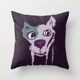 Anton - purple Throw Pillow