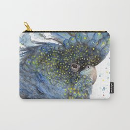 """Watercolor Painting of Picture """"Black Cockatoo"""" Carry-All Pouch"""