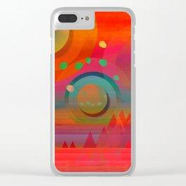 """""""Sci-fi Pop Landscape"""" Clear iPhone Case"""