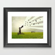singing birds Framed Art Print