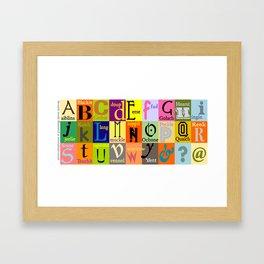 Alphabet of Scottish Words Framed Art Print