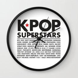 KPOP Superstars Original Boy Groups Merchandse Wall Clock