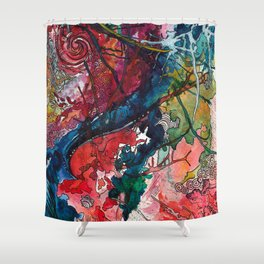 Swirls and Splatters Shower Curtain