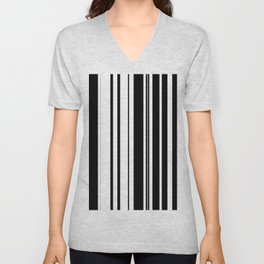 Black and white stripes 1 Unisex V-Neck