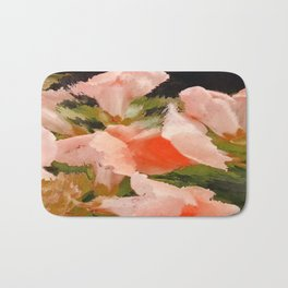 Flower Abstract Pink and Peach Snapdragons  Bath Mat