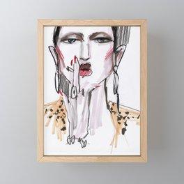 Smoking #fashionsketch Framed Mini Art Print