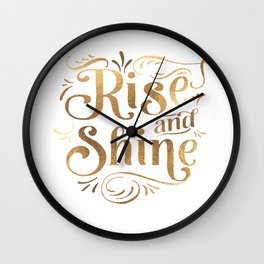 RISE AND SHINE Sign, Bedroom Decor,Home Decor,Living Room Decor,Motivational Quote,Rise And Grind Wall Clock