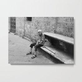 Mattina a Siena Metal Print