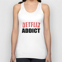 netflix Tank Tops featuring Netflix Addict by Poppo Inc.