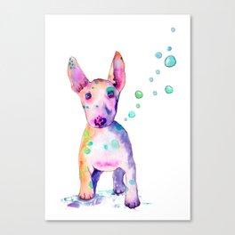 Terrier Bubbles Canvas Print