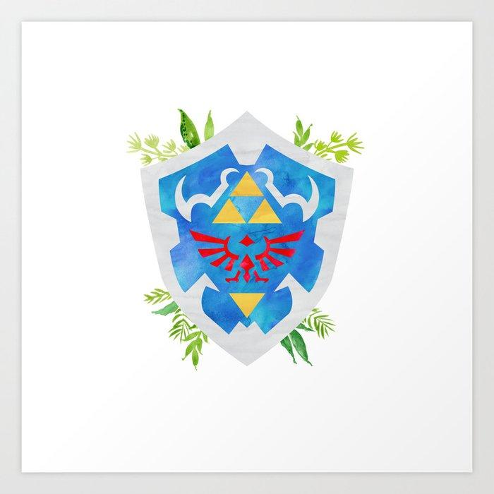 One Shield to Hyrule Them All Kunstdrucke