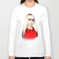 barbie Long Sleeve T-shirts featuring American Barbie by Tiko Meow