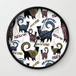 Le Snobby Cat Wall Clock