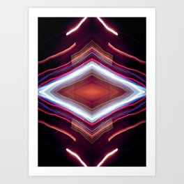 Red diamond Art Print