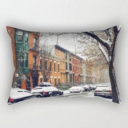 Brooklyn New York City Snow Showers Rectangular Pillow