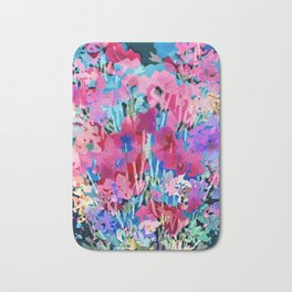 Red Poppy Evening Bath Mat